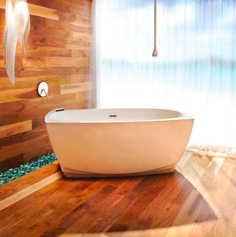 Bainultra Esthesia® freestanding air jet bathtub for your master bathroom