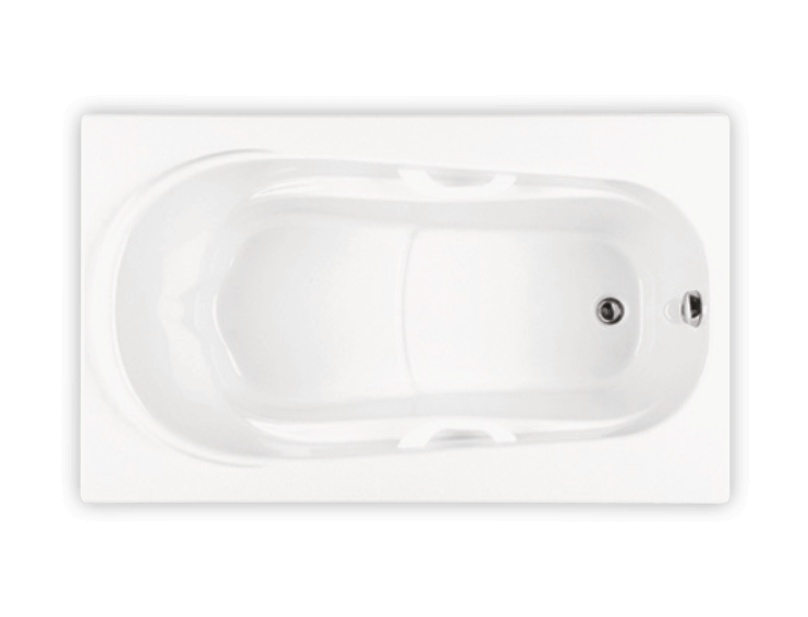 Bainultra Amma® 6036 alcove drop-in air jet bathtub for your master bathroom