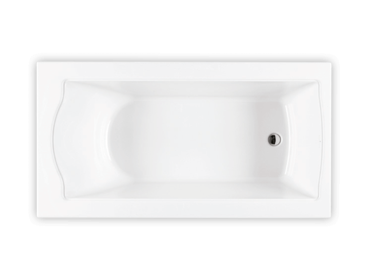Bainultra Elegancia 6032 alcove drop-in air jet bathtub for your Victorian bathroom