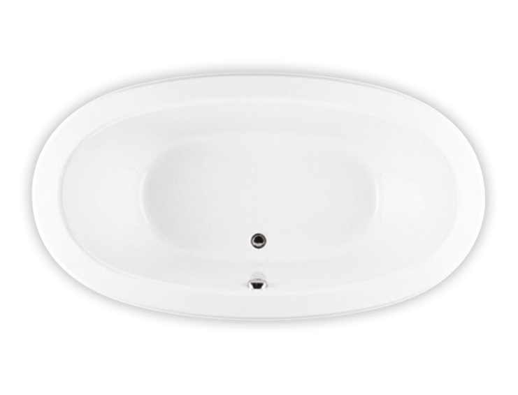 Bainultra Ellipse® 6636 drop-in air jet bathtub for your modern bathroom