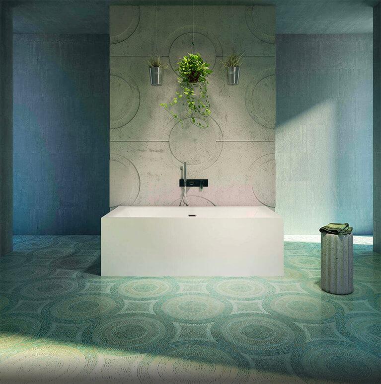 Bainultra Nokori™ 7131 two person large freestanding air jet bathtub for your modern bathroom