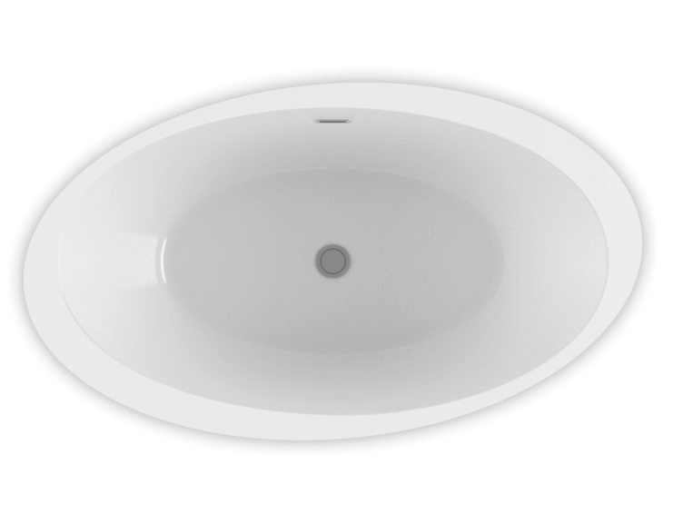 OPALIA 6839 Oblique Ellipse Right air jet bathtub for your modern bathroom