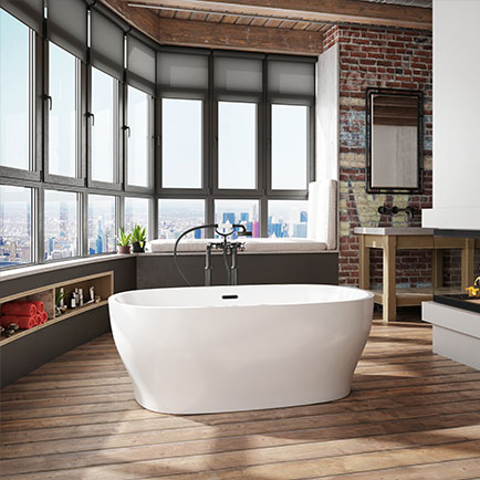 Vibe Oval Freestanding Bathtub by Bainultra